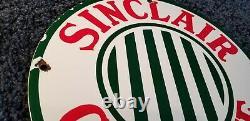 Signe Vintage D'huile D'huile De Plaque D'huile De Station-service De Porcelaine D'essence De Sinclair