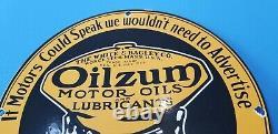 Signe Vintage D'huile De Porcelaine D'essence De Station D'essence De Pompe De Plaque D'huile À Moteur