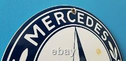 Signe Vintage De Concessionnaire De Station-service D'automobile De Gaz De Mercedes Benz