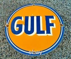 Signe Vintage De Plaque D'annonce De Plaque D'annonce De Station D'essence De Golfe