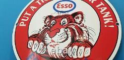 Signe Vintage De Plaque De Plaque De Pompe De Station D'essence De Gaz