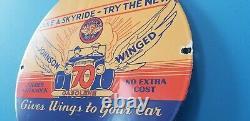 Signe Vintage De Plaque De Plaque De Pompe De Station D'essence De Porcelaine D'essence De Cru Johnson