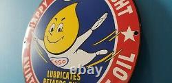 Signe Vintage De Pompe D'aviation De Station D'essence D'esso