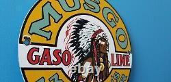 Signe Vintage De Pompe De Station D'essence De Gaz De Gaz De Gaz De Musgo
