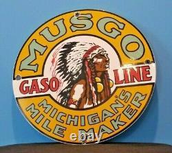 Signe Vintage De Pompe De Station D'essence De Gaz De Musgo