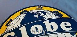 Signe Vintage De Pompe De Station D'essence De Gaz De Porcelaine D'essence