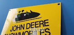 Signe Vintage De Pompe De Station-service De Motoneiges De Gaz De John Deere