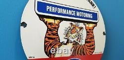 Signe Vintage De Pompe De Station-service De Réservoir De Tigre De Gaz D'essence D'esso