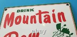 Signe Vintage De Station D'service De Bouteille De Soda De Gaz De Porcelaine De Montagne De Rosée
