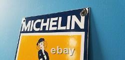 Signe Vintage De Station D'service De Mécanicien Automatique De Gaz De Gaz De Michelin Tires Bibendum