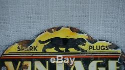 Spark Vintage Black Cat Plugs Porcelaine Connexion Gaz Huile Service Station Métal Rare