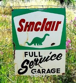 Station De Style Vintage Sinclair Dino Dinosaures Gas Oil Painted Full Service Signe