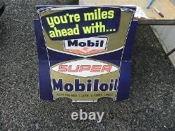Station Mobile Station Oil Service Rare Sign 50 Est 60 70 De 40x42 De Nice Wow