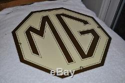 Station Service Métal Gazole Signe Vintage Mg Porcelaine Rare