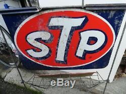 Stp Huile Moteur De Original Vintage 1960 Peut Afficher La Station Service De Gaz Rack Connexion