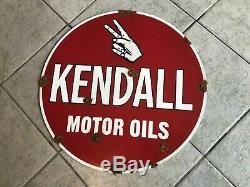Trouver Antique Style Grange Aspect Grand Panneau De Station De Service Marchand D'huile Kendall