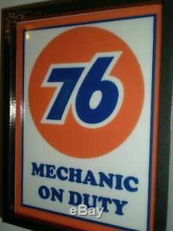 Union 76 Service Station Gas Oil Garage Mécanicien Lighted Publicité Connexion