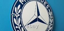 Véritable Mercedes Benz Porcelaine Gaz Automobile Service Station Signature De Concessionnaire