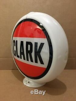 Verre Service Objectif Pompe Clark Gas Globe Lumière Vintage Garage Station Essence