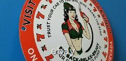 Vieux Texaco Essence Porcelaine Casino Essence Route Service Station Pump Sign