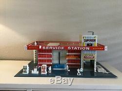 Vintage 1962 T Cohn Brumbaugh Tin Litho Superior Service Station Oil Gas