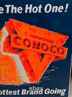Vintage Années 1960 Conoco Station Service Station Hottest Brand Going Sign Gas & Oil