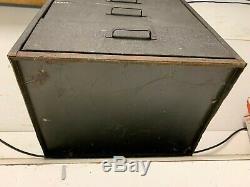 Vintage Antique Heater South Wind Pièces Métalliques Armoire À Outils Plateau Boîte D'origine