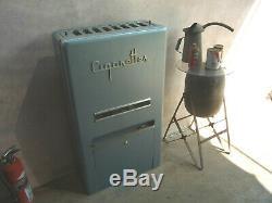 Vintage Art Deco 1950 Cigarette (candy) Machine De Gaz Service Vending Station 25c