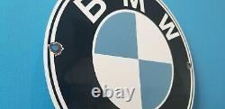 Vintage Bmw Porcelaine Gaz Automobile Service Station Signe De Vente De Concessionnaires