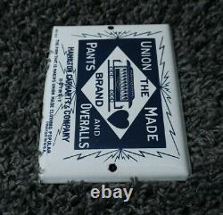 Vintage Carhartt Porcelain Sign Gas Oil Service Station Essence Rare Pump Plate