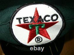 Vintage Collectible Texaco Oil Service Gas Station Uniforme Chapeau Chapeau Patch 3 De 3