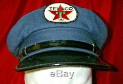 Vintage Collection Texaco Huile Service Station Uniforme Chapeau Patch 1 De 2