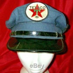 Vintage Collection Texaco Huile Service Station Uniforme Chapeau Patch 2 De 2