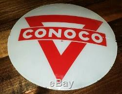 Vintage Conoco Pompe À Gaz Globe Garage Station Service Objectif