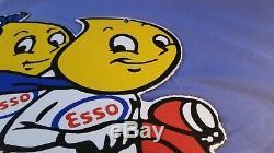 Vintage Esso Service Station Essence À Moteur Porcelaine De Pompe À Gaz Plaque Annonce Se Connecter