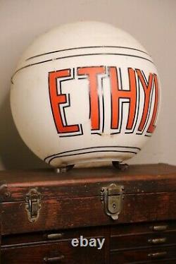 Vintage Ethyl Gasoline Pump Globe Sign Service Station Texaco Sinclair Etc