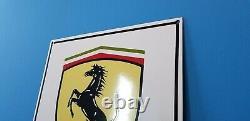 Vintage Ferrari Porcelaine Gaz Automobile Italienne Service Station Signalisation De Concessionnaire