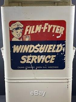 Vintage Film-fyter Service / Station Service Lavage De Pare-brise Calwis Co