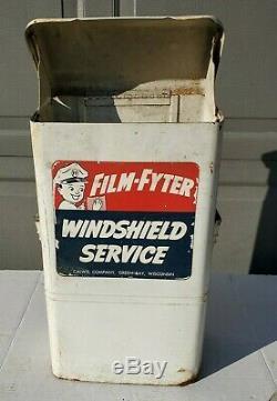 Vintage Film-fyter Station Pare-brise Lave-service Distributeur Calwis Connexion