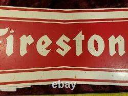Vintage Firestone Bowtie Pneus Affichage Holder Signes Stations-service Huile Gaz Stand