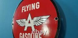 Vintage Flying A Essence Station De Service De Gaz De Porcelaine Pompe Aéronautique Panneau Publicitaire