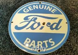 Vintage Ford Automobile Porcelaine Annonce Service Station Gaz Métal Concessionnaire Connexion