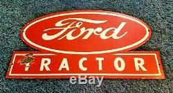 Vintage Ford Automobile Porcelaine Gaz Tracteur Grande Station-service Lourd Connexion