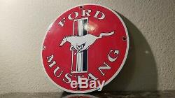 Vintage Ford Mustang Motors Porcelaine Service Station Automobile Concessionnaire Gaz Connexion