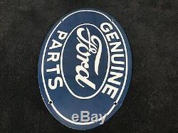 Vintage Ford Porcelain Signe Gaz Pompe À Huile Plaque Station Service Rare Concessionnaire Automobile