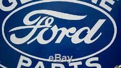 Vintage Ford Porcelain Signe Gaz Pompe À Huile Plate Station Service Rare Motors Auto
