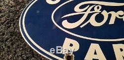 Vintage Ford Service Automobile En Porcelaine Station Pompe Plaque Annonce Pancarte De Métal