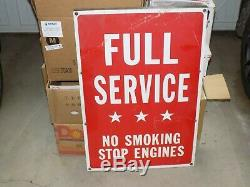 Vintage Full Service No Smoking Engines Stop Sign Station