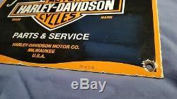 Vintage Harley Davidson Gas Service En Porcelaine Station De Pompage Connexion Plate