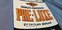 Vintage Harley Davidson Service Station Porcelain Gaz Concessionnaire Connexion
